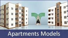 There are four models Apartments Kapoeta Development